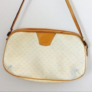 Vintage Gucci White Mini Monagram Shoulder Bag